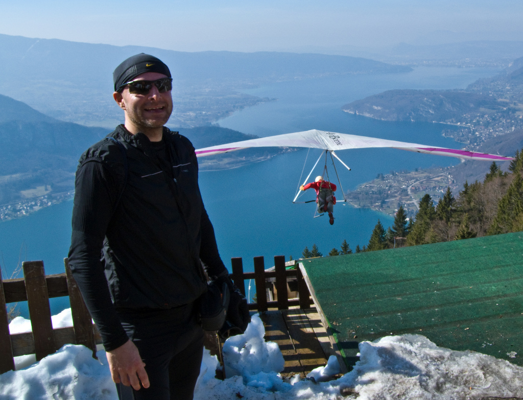 Hang gliding from Col de la Forclaz