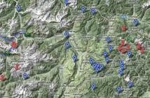 Climbs Map