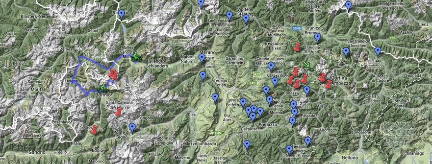Map of French Alps South French Alps – Climbs Map