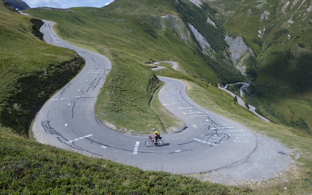 A favourite hairpins views: Col du Glandon