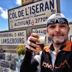 Col de l'Iseran - Grey Beard drinks beer