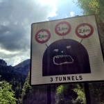 Funny tunnel sign in Gorges du Guiers Mort