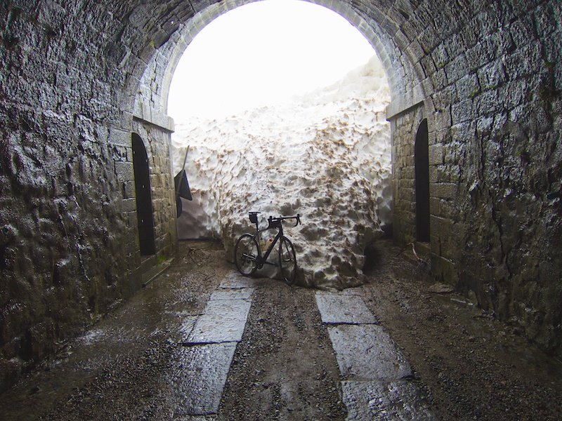 The light at the end of the tunnel ..... was snow.