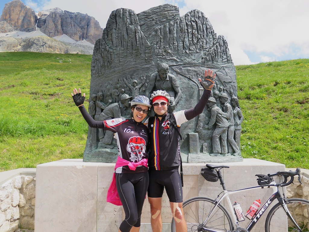 Passo Pordoi with Doreen and Fausto Coppi