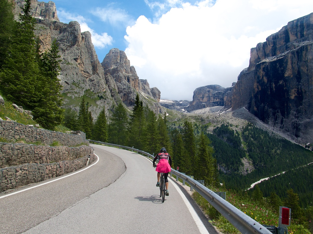 The wife. Dolomites. Nice views