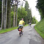 passed by an electric bike.  Col de Joux Plane