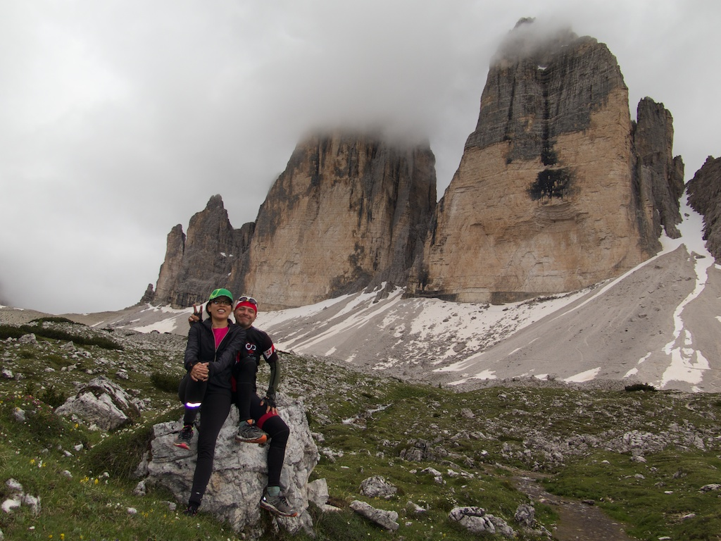 We heard climbers up high on the mountain face