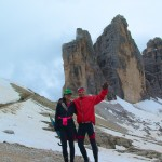 Hiking down from Forcella di Lavaredo