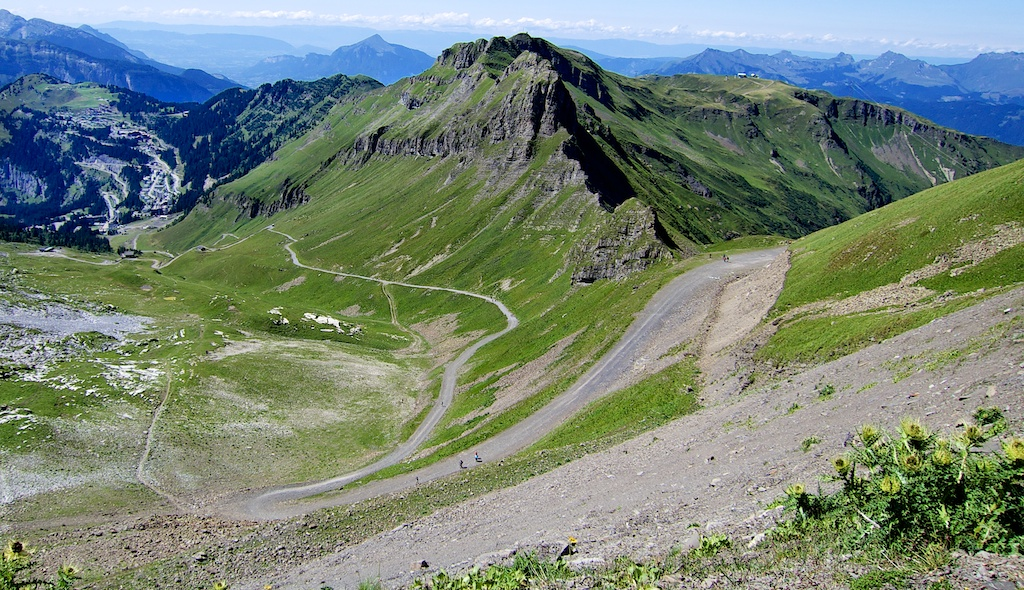 View down fro Col de Pelouse