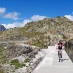 Riding on a dam