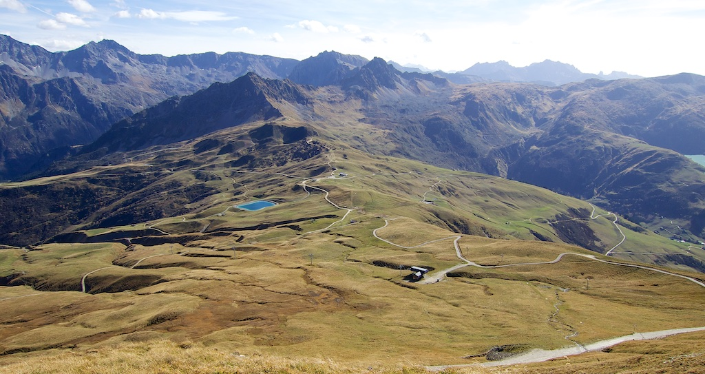 View of Col du Joly below