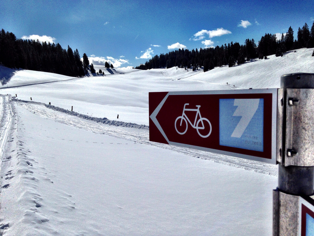 Swiss National Cycling Route 7 is part of the Cross Country trails