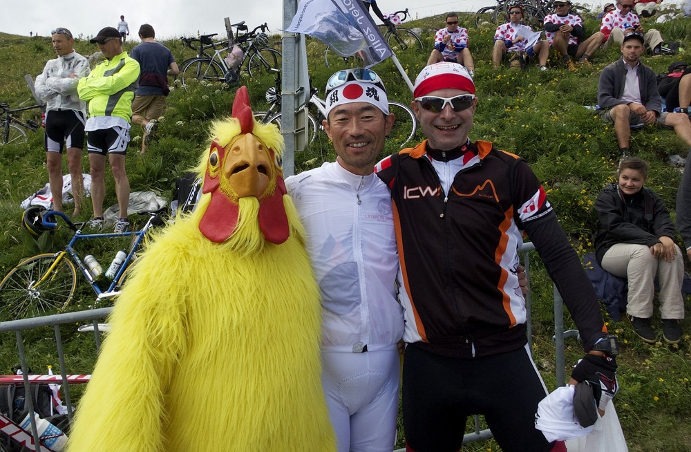 Watching the Tour de France with some buddies