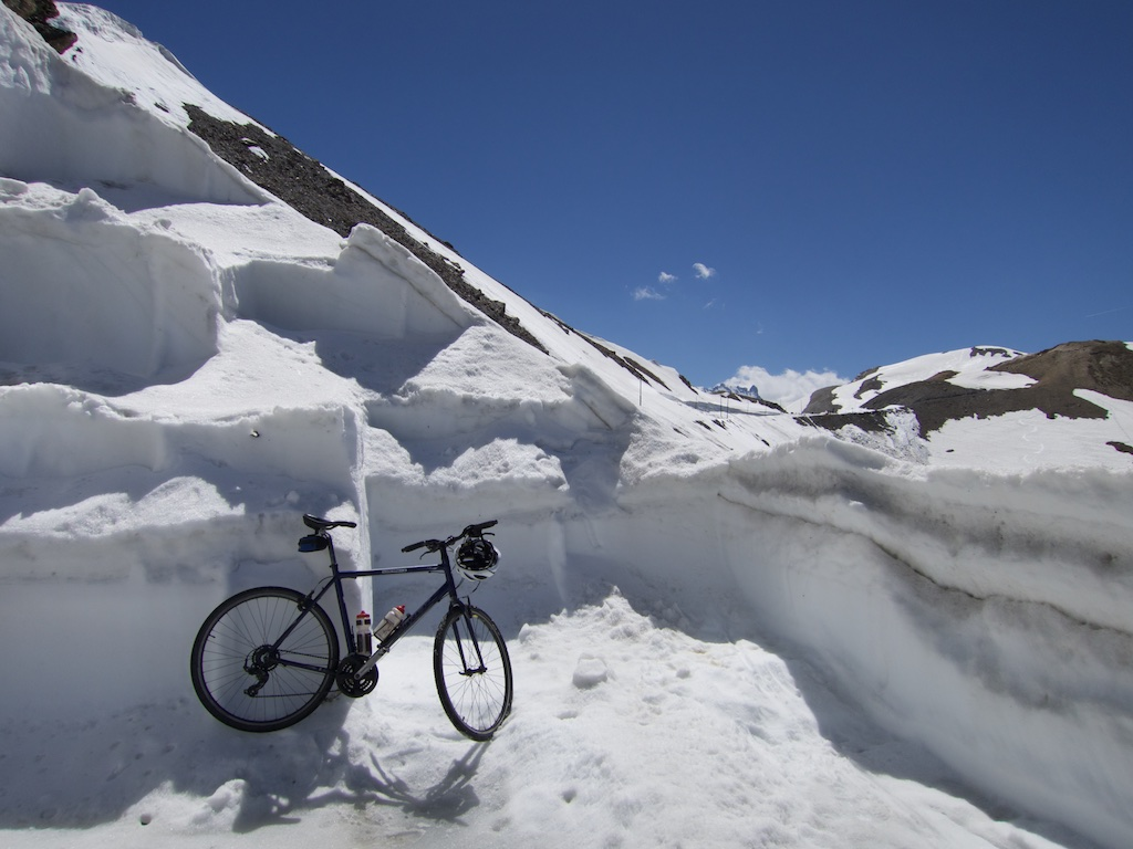 Just a few hundred metres from Col.  That is the road through my bike.  North side.