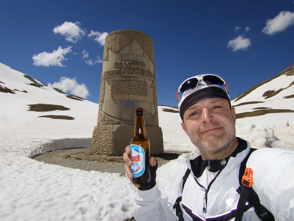 Galibier beer at Desgranges monument