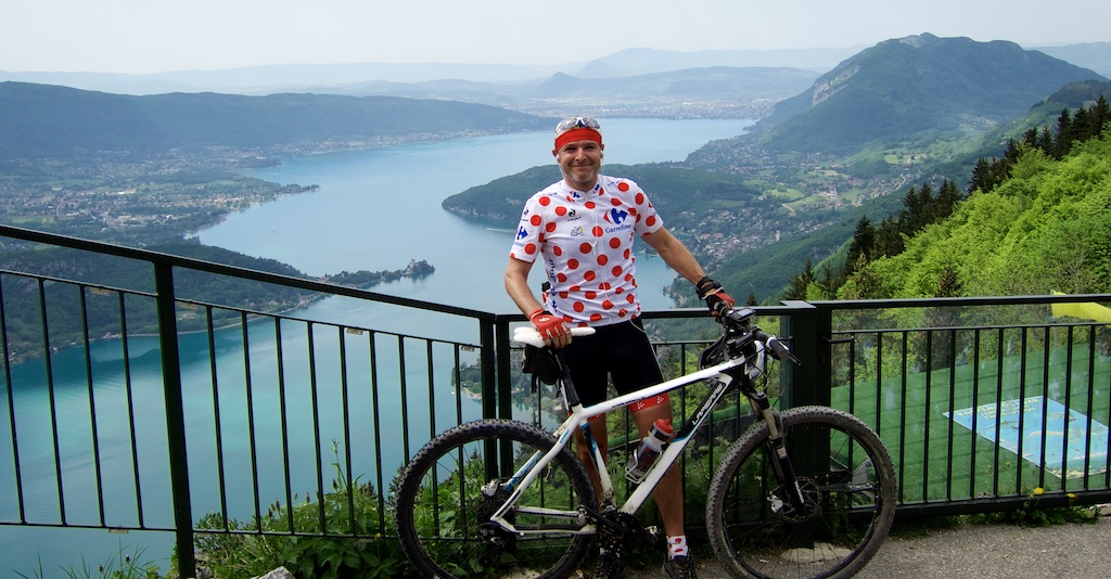 Full Polka Dots.  View from Col de la Forclaz