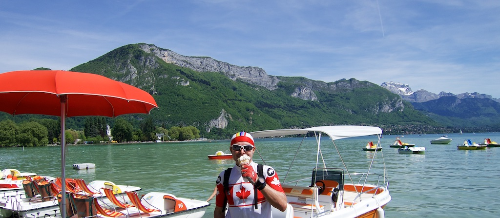 Just descended from Mont Veyrier  - behind