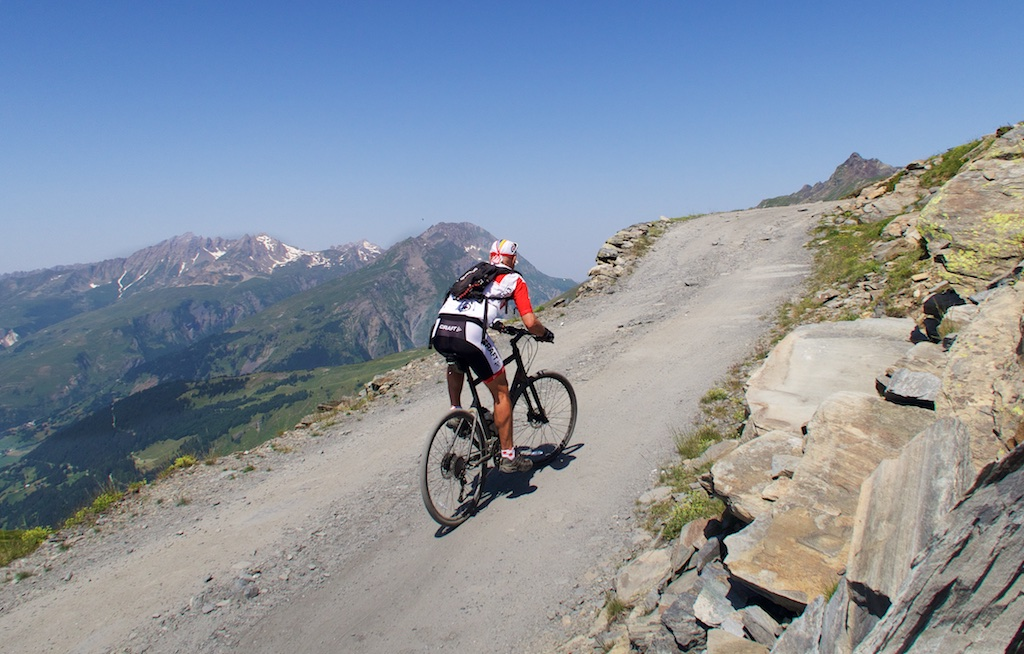 On way to Col de la Traversette