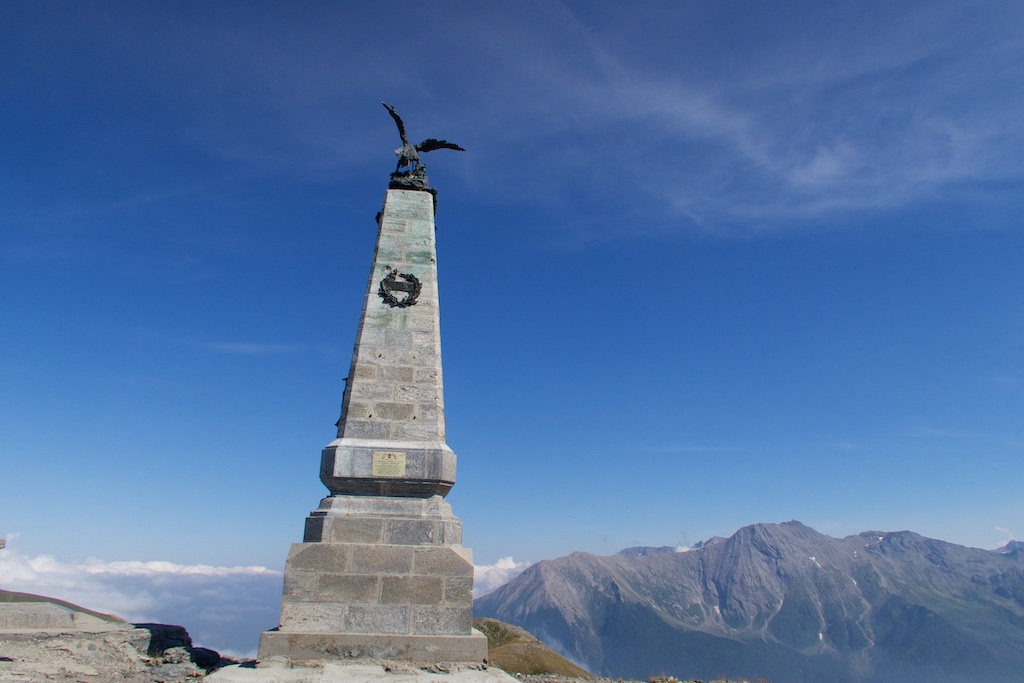 Monument atop Testa dell'Assietta