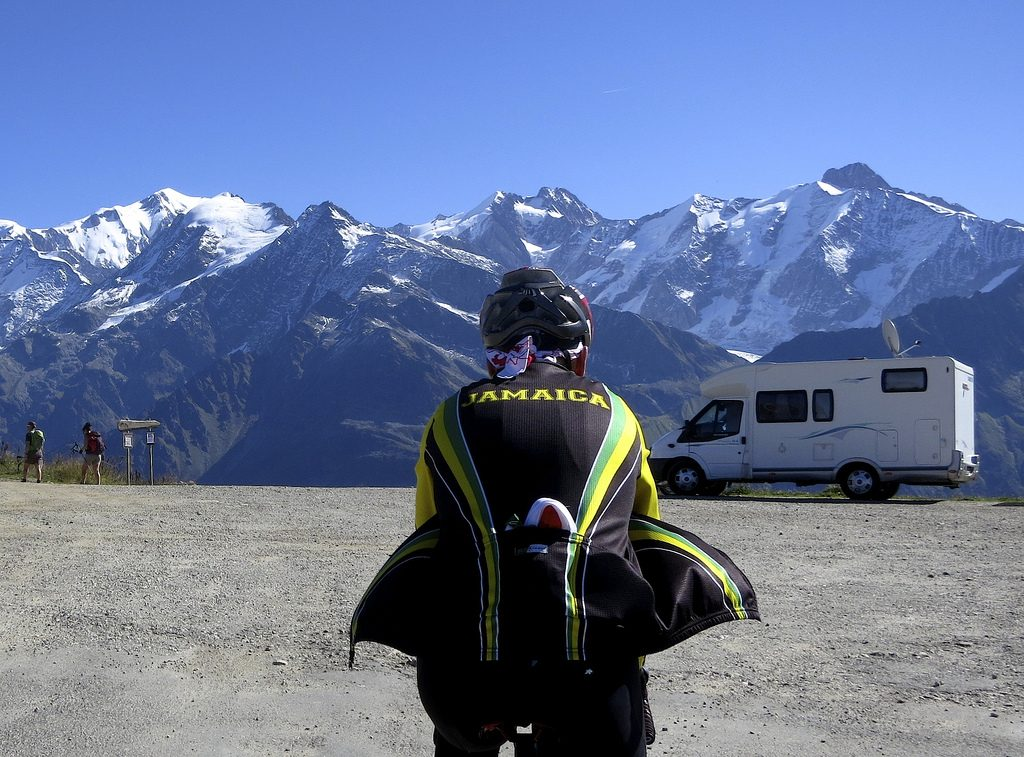Team Jamaica arrives at Col du Joly