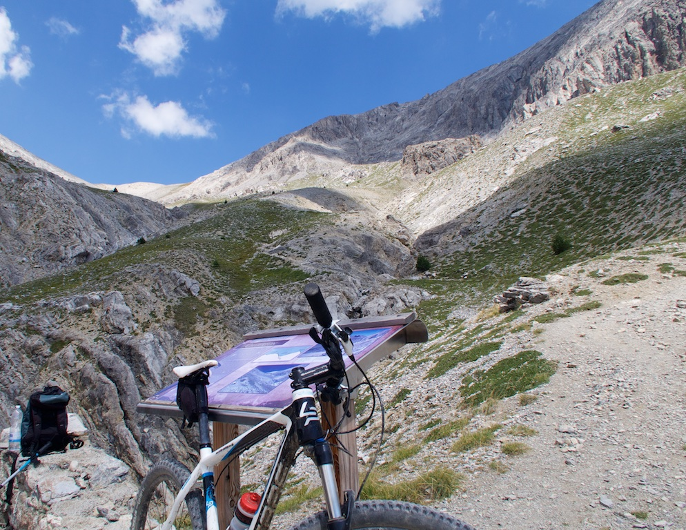 Col du Chaberton above.  Very tricky descent -- on foot.