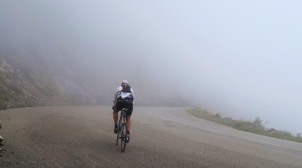 Foggy, near the summit of Notre Dame de la Salette
