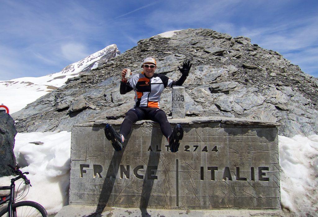 Birra Moretti at Colle dell'Agnello - 2744 metres