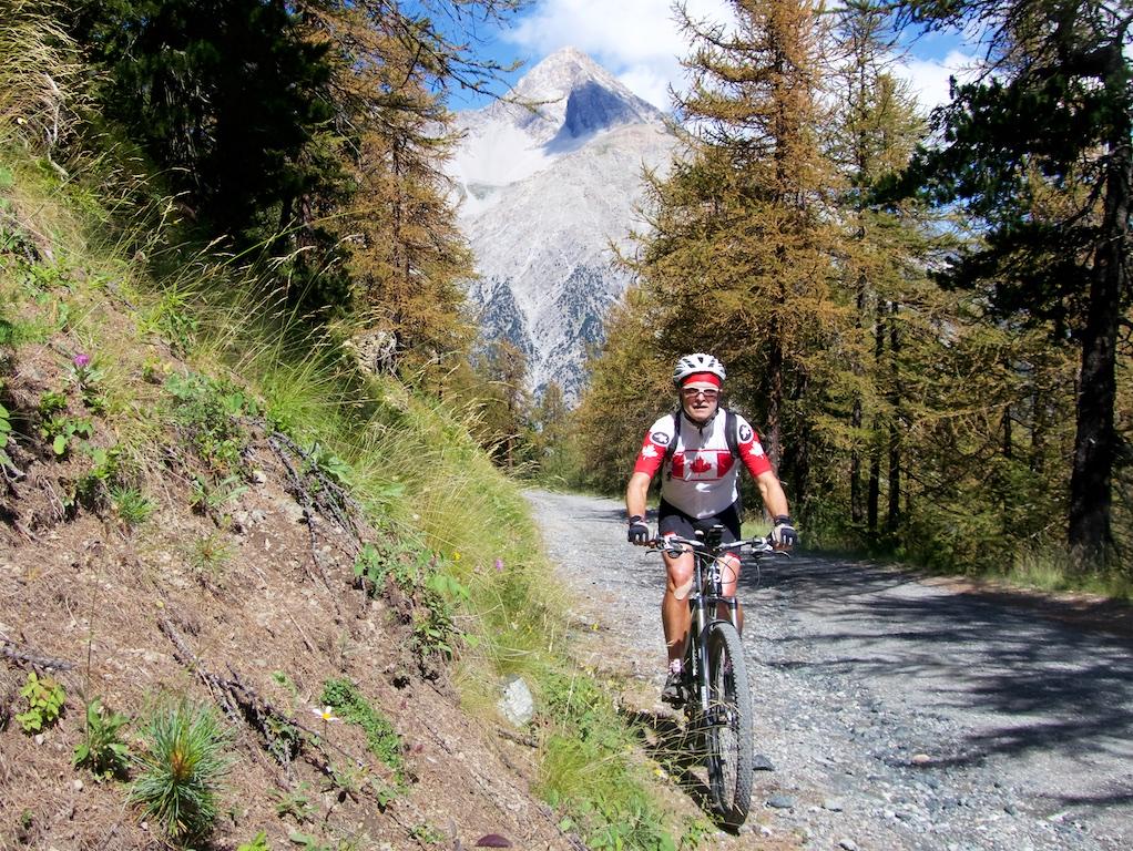 Mont Chaberton peak behing me