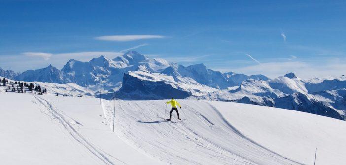 Cycle up Col de Joux Plane, XC Ski Higher
