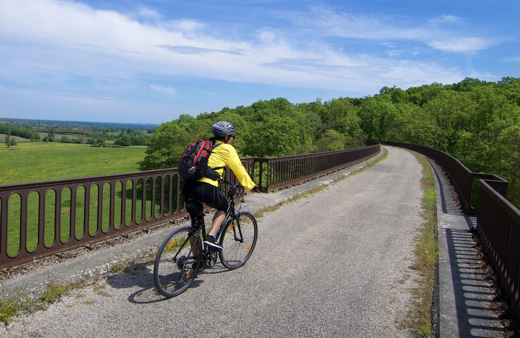 Old train viaduc now bike path