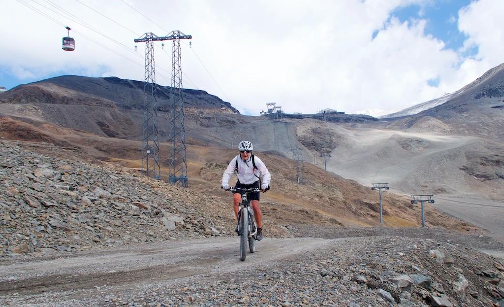 The goal Col du Jandri - 3150 metres - above me